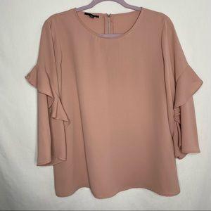 Alfani pink ruffle sleeve blouse S